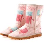 Dámské růžové boty s nápisem Elite Goby
