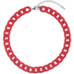 Topshop Chunky Red Chain Necklace