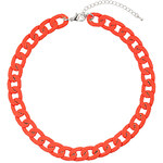 Topshop Chunky Coral Chain Necklace