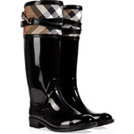 Burberry Shoes & Accessories Rubber Boots with Check Trim
