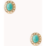 FOREVER21 Eclectic Faux Stone Studs