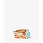 FOREVER21 Faux Stone Ring Set