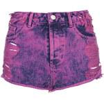 Topshop MOTO Pink Rip Denim Hotpants