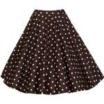 PEGGY čokoládová puntíkatá sukně inspirovaná padesátými léty