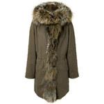 Yves Salomon Cotton/Fox Fur Army Coat