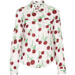 Topshop **Cherry Print Shirt by Meadham Kirchhoff