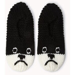 Forever 21 Cozy Knit Puppy Slippers