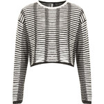 Topshop Knitted Filament Crop Jumper