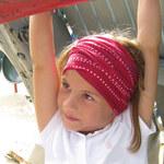Lässig LŽSSIG Twister Multifunkční šátek, Kids Dotted Flower Red