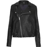 Topshop Staple Leather Biker Jacket by Boutique
