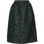 Topshop **LIMITED EDITION Green Poppy Midi Skirt