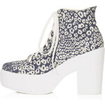 Topshop Asterix Canvas Lace-Ups
