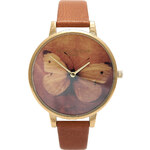 Topshop **Olivia Burton Woodland Butterfly Tan Watch