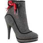 Red Hot Dámské šedivé kotníčkové boty s mašlí