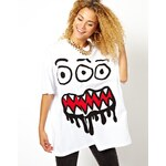 ASOS Massive T-Shirt with 3 Eyed Monster Print