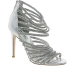 Dune Silver Heartshine Embellished Heeled Sandals