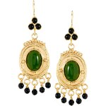 Ottoman Hands Circle Beaded Drop Earrings