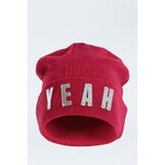 "Tally Weijl Pink ""YEAH"" Embellished Beanie Hat"