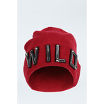 "Tally Weijl Red ""WILD"" Embellished Beanie Hat"