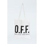 """Tally Weijl White """"O.F.F."""" Print Tote Bag"""