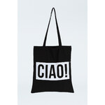 """Tally Weijl Black """"Ciao!"""" Print Tote Bag"""