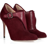 Paul Andrew Monaco Leather and Suede Booties