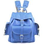 Grafea Smurf Medium Leather Rucksack - Blue