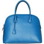 Elegantní kožená kabelka Made in Italia / Siena - modrá - skladem univerzální