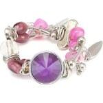 Náramek s fialovými kamínky Emi