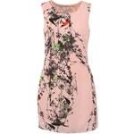 Krátké růžové šaty Lavand s potiskem