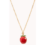 Forever 21 Sweet Apple Necklace