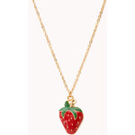 Forever 21 Sweet Strawberry Necklace