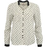 Černo-bílá košile Louche s pejsky