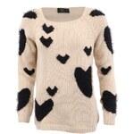 Béžový svetr AX Paris Multi Fluffy