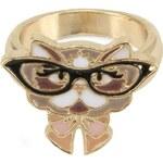 Prstýnek s brýlatou kočičkou Louche