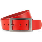 Esprit smooth leather belt with a logo buckle