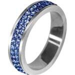 Prstýnek Tribal posetý modrými krystaly