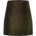 Topshop Metallic Leopard Skirt