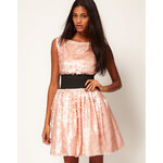 ASOS Sequin Prom Dress with Deep Waistband