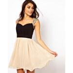 Little Mistress Embellished Shoulder Prom Dress