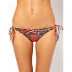 Miss Mandalay India Paisley Tie Side Bikini Bottom With Frill