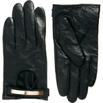 ASOS Leather Metal Plate Gloves