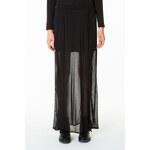 Tally Weijl Black Dip Hem Maxi Skirt