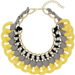 Topshop Woven Fabric Curb Chain Collar