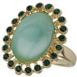 Topshop Ring mit grün marmoriertem Schmuckstein