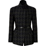 Donna Karan New York Wool-Mohair-Cashmere Houndstooth Jacket