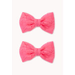 Forever 21 Lace Bow Hair Clips