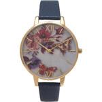 Topshop **Olivia Burton Winter Garden Floral & Gold Watch