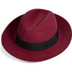 Maison Michel Rabbit-Felt Henrietta Grosgrain-Trimmed Boyfriend Hat