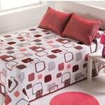 Přehoz Dalia 8 Rojo, 220 x 240 cm, 2 ks 40 x 40 cm